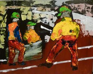 Acrylbild, EZB im Bau, Acryl auf Leinwand, 40 x 50 cm
