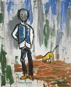 Acrylmalaerei, Raija Smed-Hildmann Selbstbildnis, Acrylmalerei, Leinwand, 50 x 40 cm