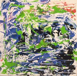 Acrylmalerei, Acrylbild, Lachsforelle, Acryl auf Leinwand, 30 x 30 cm