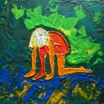 Acrylbild, Menschen, Acrylmalerei, Leinwand, 20 x 20 cm