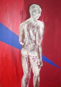 Acrylbild, Aktmalerei, Despido, Acrylmalerei, Leinwand, 70 x 50 cm