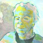 Acrylbild, Portraetmalerei, Raija Smed-Hildmann, Selbstbildnis, Acrylmalerei, Leinwand, 30 x 30 cm