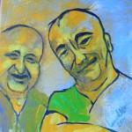 Acrylbild, Porträtmalerei, Acrylmalerei, Leinwand, 30 x 30 cm