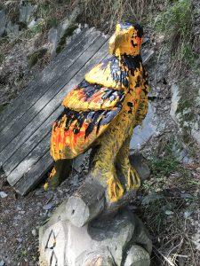 Bundesadler anders Holz bemalt Hoehe etwa 1m