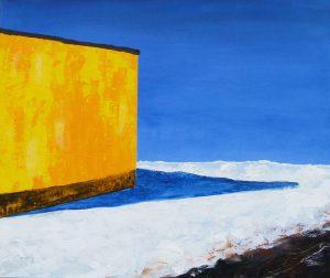 Winter Abstraktion, Acryl, Acrylbild, Reichenberg, Landschaft