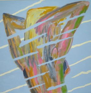 Acrylbild, Aktmalerei, Jutta, Acrylmalerei, Leinwand, 80 x 80 cm