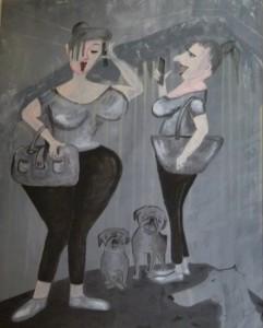 Acrylbild, Menschen, Acrylmalerei, Leinwand, 100 x 80 cm