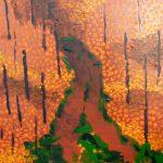 Stillleben, Wald, Herbst, Acryl, Acrylbild