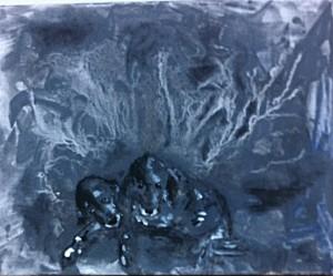 Acrylbild, English Setter, Agomo, Acrylmalerei, Leinwand, 24 x 30 cm