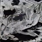 Acrylbild, Alpenlaendische Dacksbracke, Finda, Acrylmalerei, Leinwand, 20 x 20 cm