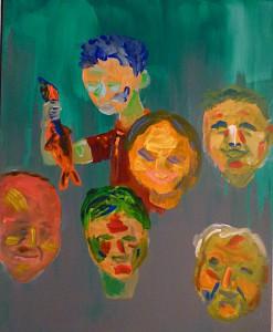 Acrylbild, Geburtstag, Acrylmalerei, Leinwand, 50 x 40 cm