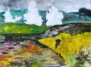 Loreley 2016 Acryl auf Leinwand, 30 x 40 cm